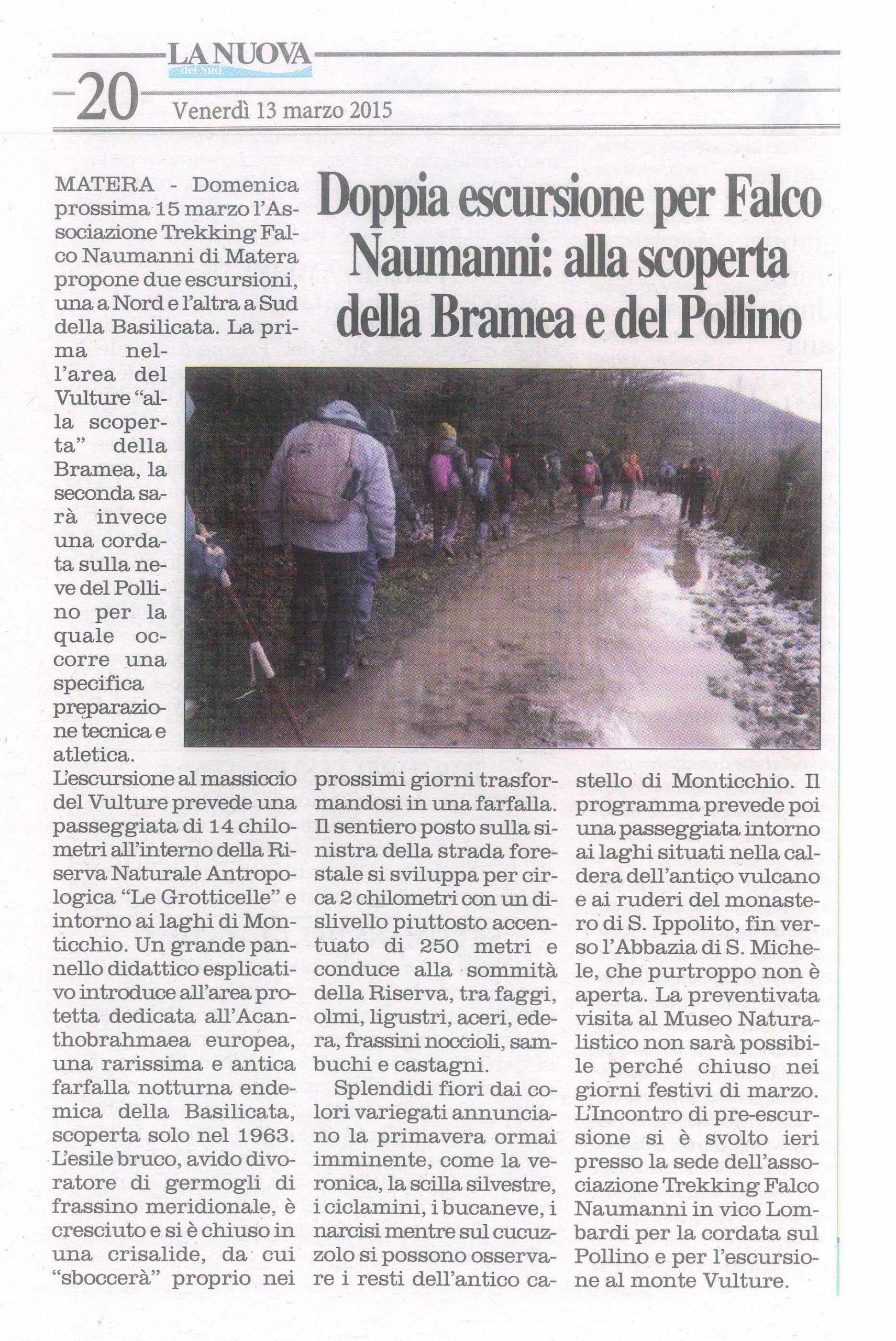 15.03.13 - La Nuova - Bramea